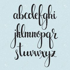 Handwritten brush style modern calligraphy cursive font. Calligraphy alphabet. Cute calligraphy letters. Isolated