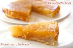 Receta tradicional francesa, una deliciosa tarta tatin de manzana con crujiente base de hojaldre. Carameliza las manzanas y añádeles canela, ¡deliciosa!