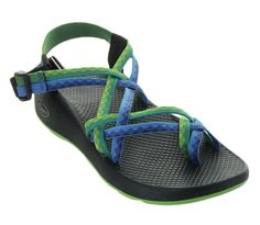 Chaco ZX2 Yampa Sandal is Fresh in color and is made to take you on all your adventurous journeys! With it's polyester jacquard style webbing on the upper double straps this sandal is sure to be durab