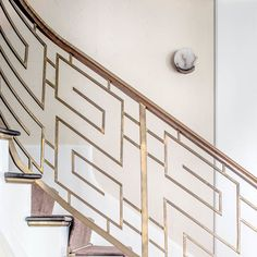 Melange Sconce by Kelly Wearstler Modern Stairs Kelly Melange Sconce Wearstler Staircase Railing Design, Modern Stair Railing, Interior Railings, Iron Stair Railing, Home Stairs Design, Metal Stairs, Modern Stairs, Interior Stairs, Stairway Railing Ideas