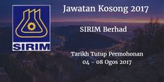 Jawatan Kosong SIRIM Berhad 04 - 08 Ogos 2017  SIRIM Berhadcalon yang sesuai untuk mengisi kekosongan jawatan SIRIM Berhad terkini 2017.  Jawatan Kosong SIRIM Berhad 04 - 08 Ogos 2017  Warganegara Malaysia yang berminat bekerja di SIRIM Berhad dan berkelayakan dipelawa untuk memohon sekarang juga. Jawatan Kosong SIRIM Berhad Terkini 04 - 08 Ogos 2017: 1. HEAD TALENT PERFORMANCE & DEVELOPMENT GROUP HUMAN RESOURCE 2. EXECUTIVE Tarikh Tutup Permohonan : 04 - 08 Ogos 2017 Sektor      :Berkanun…