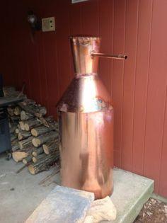 50 gallon copper moonshine still Moonshine Still Plans, Copper Moonshine Still, How To Make Moonshine, Homemade Pot Pie, Homemade Wine, Distillery, Brewery, Copper Pot Still, Best Chicken Pot Pie