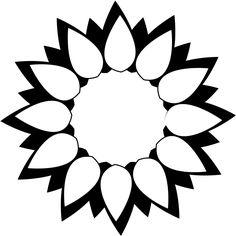Stylized Sun Flower - design by Jen Holtom