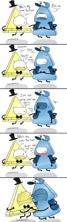 BillDip - My little Pine tree Comic by Celestabell on DeviantArt