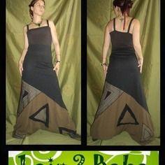 Combinaison sarouel créateur kaki noire triangle 1air2 baba