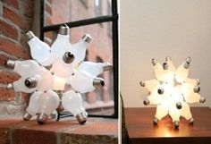 Recycle Light Bulbs...can make it a hanging fixture too