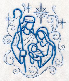 Doodle Holy Family design (M10169) from www.Emblibrary.com