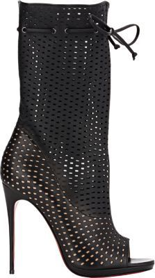 Christian Louboutin Perforated Jennifer Boots