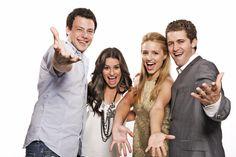 Cory Monteith, Lea Michelle, Dianna Agron, and Matthew Morrison. Glee Cast, It Cast, Matthew Morrison, Kevin Mchale, Finn Hudson, Rachel Berry, Dianna Agron, Cory Monteith, Lea Michele