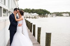 A romantic lace and gold wedding at the Lesner Inn in Virginia Beach captured by Caitlin Gerres Photography.