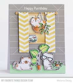 Card Kit, I Card, Cat Plants, Mft Stamps, Cat Cards, Pattern Paper, Pattern Wallpaper, Invitation Design
