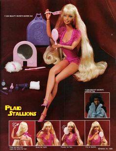 Beauty Secrets Barbie - she could take care of all her own beauty needs. #beautysecretsbarbie