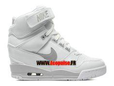 premium selection 9799d 57e03 Femme Chaussures Nike Air Revolution Sky Hi GS Blanc Gris