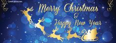 Merry Christmas and Happy New Year Facebook Cover coverlayout.com