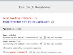 Easily increase your feedback from buyers, with Feedback Reminder!