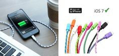 $10 for a Tough Braided Fabric iPhone/Galaxy/Blackberry Cable Available in 8 Colours - Taxes