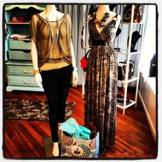 Beautiful printed Maxi and Fab Distressed Jeans New @ FLAUNT!