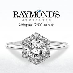 Like halos but seeing too many?  Switch up the shape and be different! #SiouxFalls #RaymondsJewellers www.raymondsjewellers.com