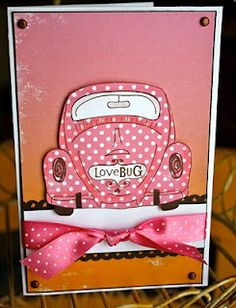 unity stamp company. kit used - Love Bug - card created by unity design team member Christi Snow