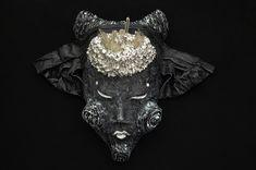 "— Старше 18 лет.  Маска ""Hangeoku"".   #mask #occult #symbolic #horror #milaevance #thalamusunion #nightmare #madness #monsters #darkside #costume #horrormask #artobjects #sculpture #closedeyes #ritual #psychadelic #mystic #surreal #interiormask #ethnics"