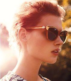 Metallic Rim Sunglasses | Womens Eyewear | ToryBurch.com
