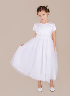 Miss Mallory   Pretty LDS Baptism Dresses at www.onesmallchild.com - this dress is only $46!