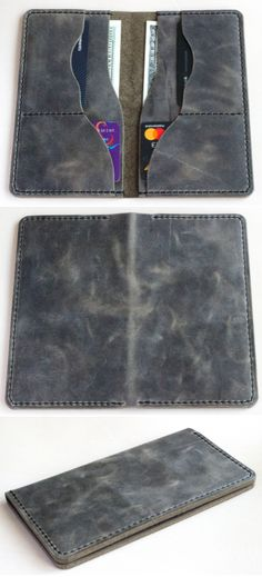 Leather wallet Large wallet Long wallet Handmade wallet - All About