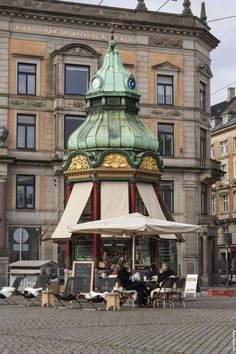 Copenhagen - this little coffee and snack stop is right by Nørreport - I walk by it almost daily without a thought  - it's odd seeing it his photo posted on Pinterest