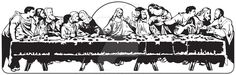 The Last Supper created by Michael Scott Hassler Size 7 x 22 inches @ 300 dpi and scalable, perfect for web or print projects. Downloaded Vector Here: sellfy.com/p/I9IQ/ Download Contains 3 image f...