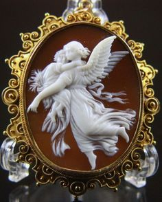Guardian Angel | carnelian shell by Wilhelm von Kaulbachs, Victorian era