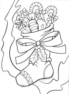 Printable Christmas Stocking Coloring Page Free PDF Download At
