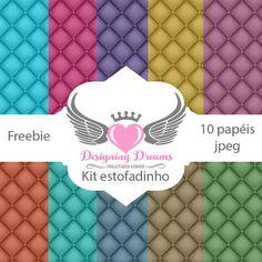 Kit de papéis estofadinhos grátis para baixar - Cantinho do blog Layouts e Templates para Blogger