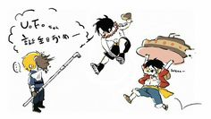 Ace, Sabo, Luffy, brothers, funny, cake, food, text, food fight; One Piece