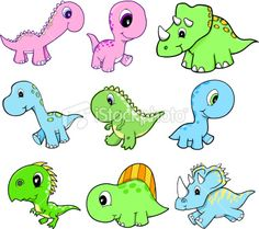Cute Dinosaurs for nursery and baby shower cake 2nd Baby Showers, Baby Shower Niño, Baby Shower Cakes, Easy Dinosaur Drawing, Cute Dinosaur, Dinosaur Printables, Baby Shower Printables, Diy Baby Gifts, Diy Crafts For Gifts