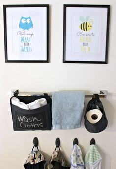 Crafting an Organized Kid's Bathroom with Free Printable Art | Sunny Day Family #CraftedExperience #CollectiveBias ad