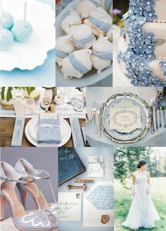 #Pantone Colour 2016 #Serenity #Wedding Styling Mood Board from The Wedding Community