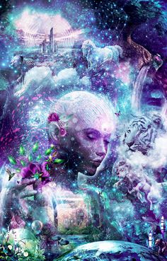 Discovering The Cosmic Consciousness | Parable Visions Art By Cameron Gray