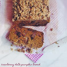 Cranberry Date Pumpkin Bread with Brown Sugar Hemp Crumble.  Gluten free, allergen free, vegan & made with BG Bakes Gluten Free All-Purpose Flour Mix, of course!