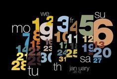 Typography calendar 2013 by Sudhir Kuduchkar #helvetica