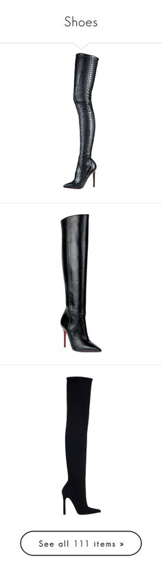 Shoes by diana-329 ❤ liked on Polyvore featuring shoes, boots, christian louboutin, louboutin, heels, tall boots, high boots, christian louboutin boots, high heel boots and christian louboutin shoes