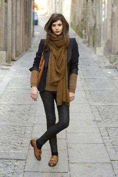 huge scarves add a boost to any outfit