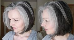 transitioning into grey hair | 40plusstyle.com
