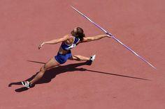 23.08 La Britannique Jessica Ennis-Hill lors de l'épreuve du lancer du javelot de lheptathlon des Mondiaux de Pékin.Photo: Antonin Thuillier