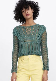 Crochet Cardigan, Knit Crochet, Finger Crochet, Modern Crochet, Crochet Fashion, Crochet Clothes, Crochet Projects, Hand Knitting, Boho Fashion