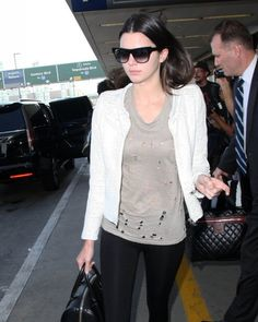 Kendall Jenner Photos: Kris and Kendall Jenner at LAX
