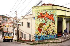 Bicycle murals by Mart #mural #graffiti