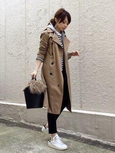 ari☆│RED CARD Denim jacket Looks - WEAR