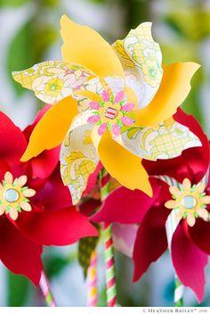 Make a Bouquet of Pinwheels - template.