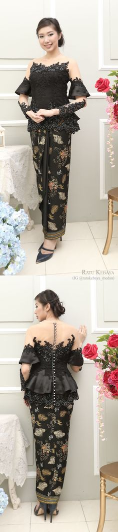 Inspirasi kebaya @ratukebaya_medan. Padanan lace dan batik. -/- Fashionable Muslim Clothing for All Women ./  https://adpgtr.conn