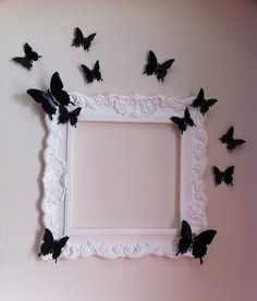 Deko Bilderrahmen aus Styropor-Zierleisten herstellen ~ How to make a decorative picture frame out of styrofoam moldings